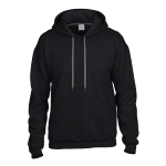 Black Premium Cotton Ring Spun Fleece Hooded Sweater. 92500